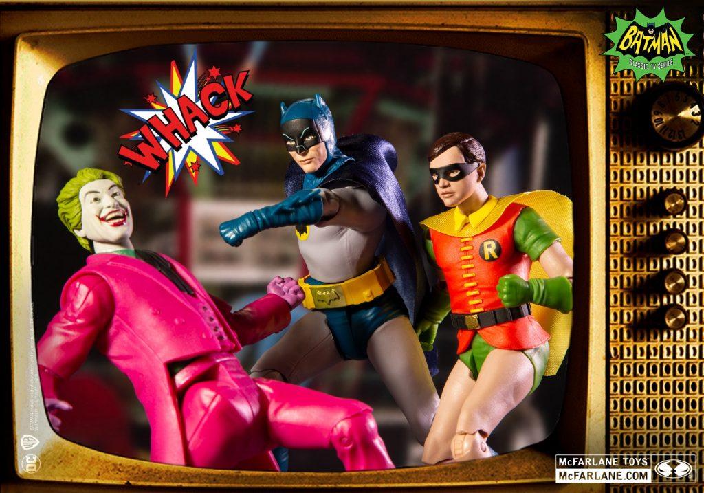 Batman 66, batman retro, dc retro, mcfarlane dc retro, mcfarlane dc, figuras dc retro, figuras batman 66, batman 60's, robin 66, the joker figura, baticueva, batimóvil, batman 66
