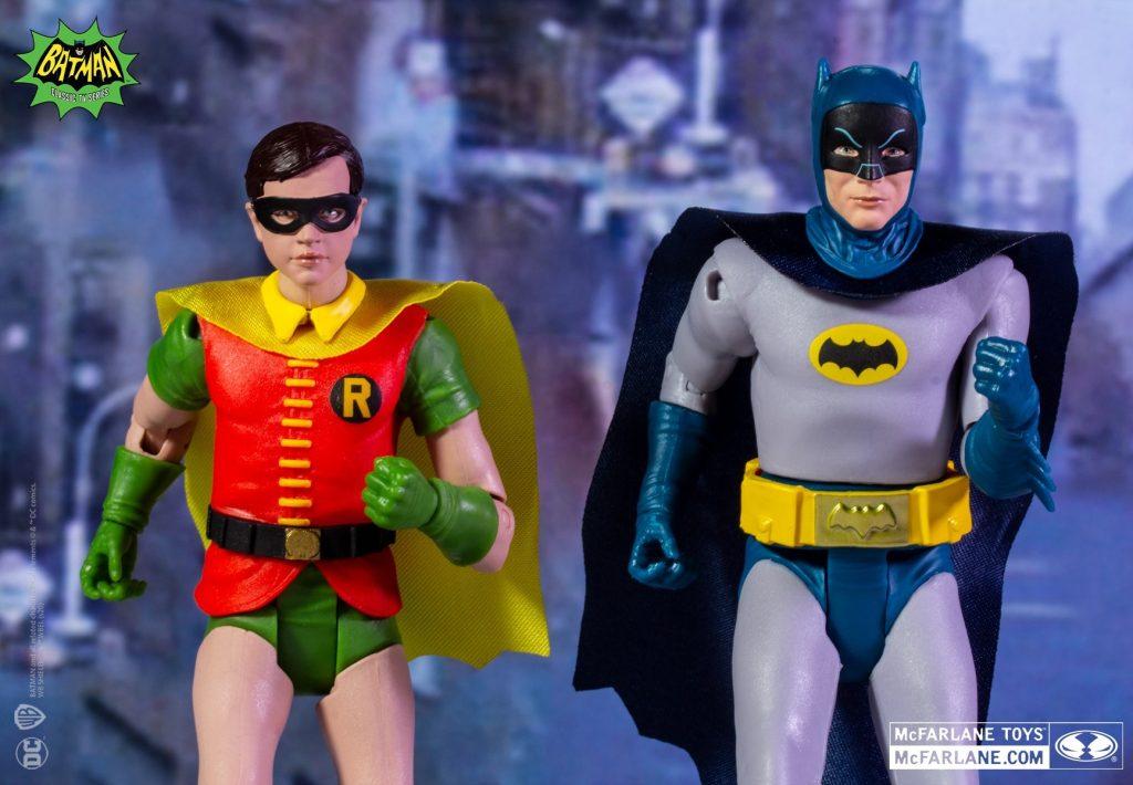 Batman 66, batman retro, dc retro, mcfarlane dc retro, mcfarlane dc, figuras dc retro, figuras batman 66, batman 60's, robin 66, the joker figura, baticueva, batimóvil,